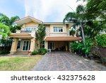 modern house in the garden | Shutterstock . vector #432375628