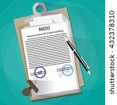 agreement mou memorandum of...   Shutterstock .eps vector #432378310