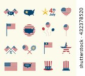 usa  independence day icon... | Shutterstock .eps vector #432378520