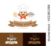 chef with ok hand symbol icon.... | Shutterstock .eps vector #432381388