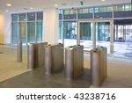 lobby entrance with turnstile...   Shutterstock . vector #43238716