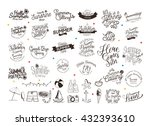 summer calligraphic designs set ... | Shutterstock .eps vector #432393610