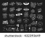 summer calligraphic designs set ... | Shutterstock .eps vector #432393649