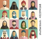 set of muslim islamic people... | Shutterstock .eps vector #432394168