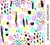 trendy polka dot seamless... | Shutterstock .eps vector #432394180