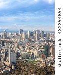 tokyo city skyline in shinjuku...   Shutterstock . vector #432394894