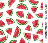 seamless pattern of watermelon...   Shutterstock .eps vector #432400930