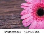 vintage pink flower on wooden... | Shutterstock . vector #432403156