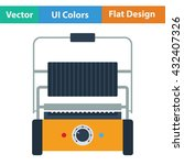 kitchen electric grill icon....