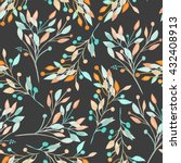 seamless pattern with the... | Shutterstock . vector #432408913