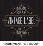 vintage typographic label... | Shutterstock .eps vector #432409009