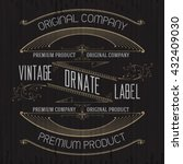 vintage typographic label... | Shutterstock .eps vector #432409030