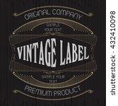 vintage typographic label... | Shutterstock .eps vector #432410098