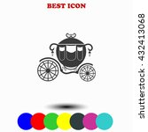 carriage icon.  | Shutterstock .eps vector #432413068