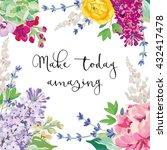 spring garden flowers wreath... | Shutterstock .eps vector #432417478