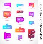 vector stickers  price tag ... | Shutterstock .eps vector #432419710