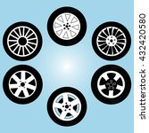 set tyres for car | Shutterstock .eps vector #432420580