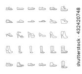 shoes icons. icons men's and ... | Shutterstock . vector #432420748