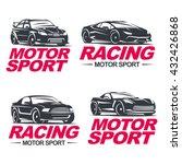 set of four sport cars logo ... | Shutterstock .eps vector #432426868
