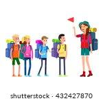 vector illustration of kids... | Shutterstock .eps vector #432427870