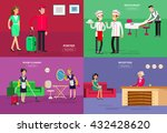 hotel staff and service ... | Shutterstock .eps vector #432428620