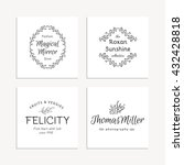 hand drawn logo collection.... | Shutterstock .eps vector #432428818