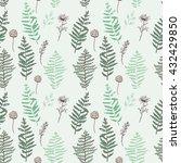 fern seamless pattern.... | Shutterstock .eps vector #432429850