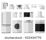 kitchen appliances   Shutterstock .eps vector #432434770