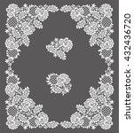 lace frame. clip art. | Shutterstock .eps vector #432436720