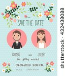 wedding invitation cards with... | Shutterstock .eps vector #432438088