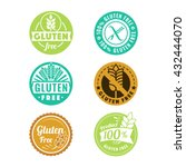 vector gluten free badges and... | Shutterstock .eps vector #432444070