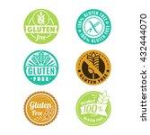 vector gluten free badges and... | Shutterstock .eps vector #432444070