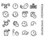 time icon set   Shutterstock .eps vector #432444616