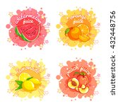 four stickers with different...   Shutterstock .eps vector #432448756