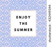 summer hipster boho chic... | Shutterstock .eps vector #432449344