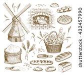 vector hand drawn bakery...   Shutterstock .eps vector #432457990