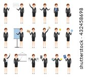 business woman character at... | Shutterstock .eps vector #432458698