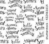 pattern summer handwritten... | Shutterstock .eps vector #432461614