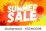 summer sale banner. summer sale ...   Shutterstock .eps vector #432463108