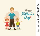 father's day. cartoon... | Shutterstock .eps vector #432464524