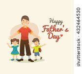 father's day. cartoon... | Shutterstock .eps vector #432464530
