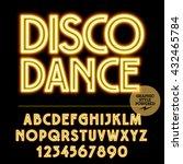 neon bright set of alphabet... | Shutterstock .eps vector #432465784