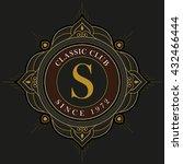 vector luxury elegant frame... | Shutterstock .eps vector #432466444