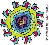 mandala flower | Shutterstock .eps vector #432470350