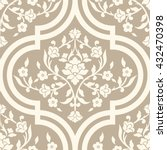 vector damask seamless pattern... | Shutterstock .eps vector #432470398