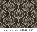 vector damask seamless pattern... | Shutterstock .eps vector #432471253