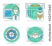 flat line vector icons for... | Shutterstock .eps vector #432472660