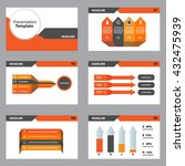 orange and back vector business ... | Shutterstock .eps vector #432475939