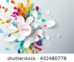 abstract background with paper...   Shutterstock .eps vector #432480778