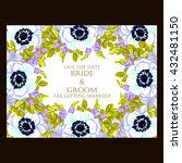 vintage delicate invitation... | Shutterstock .eps vector #432481150